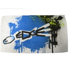 Henselite Dri Tec Towel - Edge White/Black/Blue