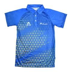 Henselite Mens Eureka Polo Blue/Gold