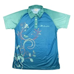 Henselite Ladies Flora Polo Blue/Magenta
