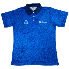 Henselite Ladies Paisley Polo - Royal/Navy