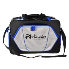Henselite Bowls Bag: Model Sports Pro Black/Grey with Blue Trim