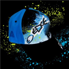 Edge Cap - Sublimated - White/black/blue