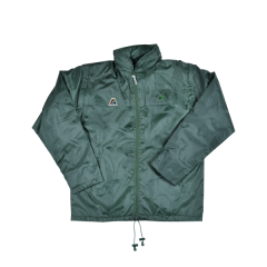 Henselite Rainwear: Jacket - Lined Drawstring Bottle Green
