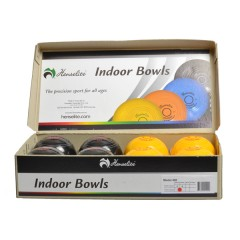 "Henselite Indoor Carpet Bowls - 4"" Yellow & Black"