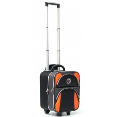 Drakes Pride Regal Trolley Bag Black/Charcoal/Orange