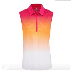 Sporte Leisure Sleeveless Peach Polo Orange