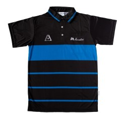 Henselite Mens Prestige Polo - Black/Royal