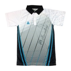 Henselite Mens Rink Polo Teal/White/Grey/Black