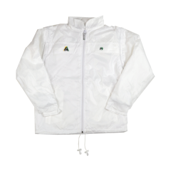 Henselite Rainwear: Jacket - Lined Drawstring White